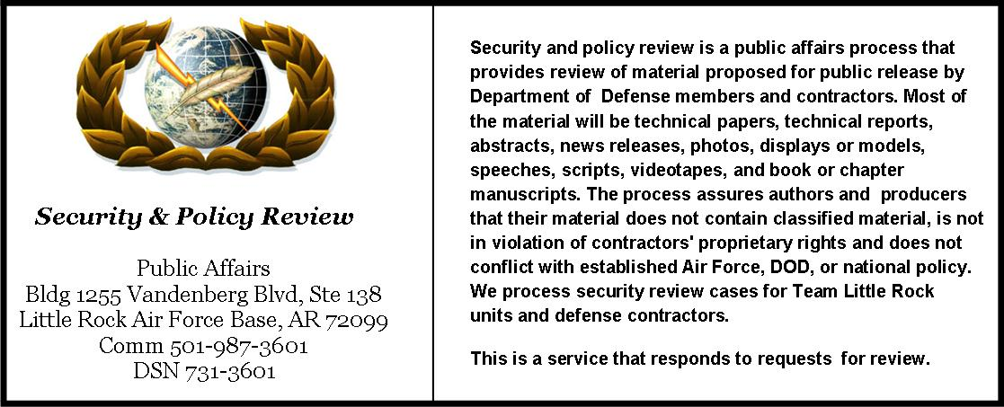 Security and Policy Review