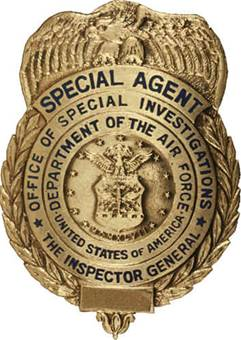 Gold special agent badge