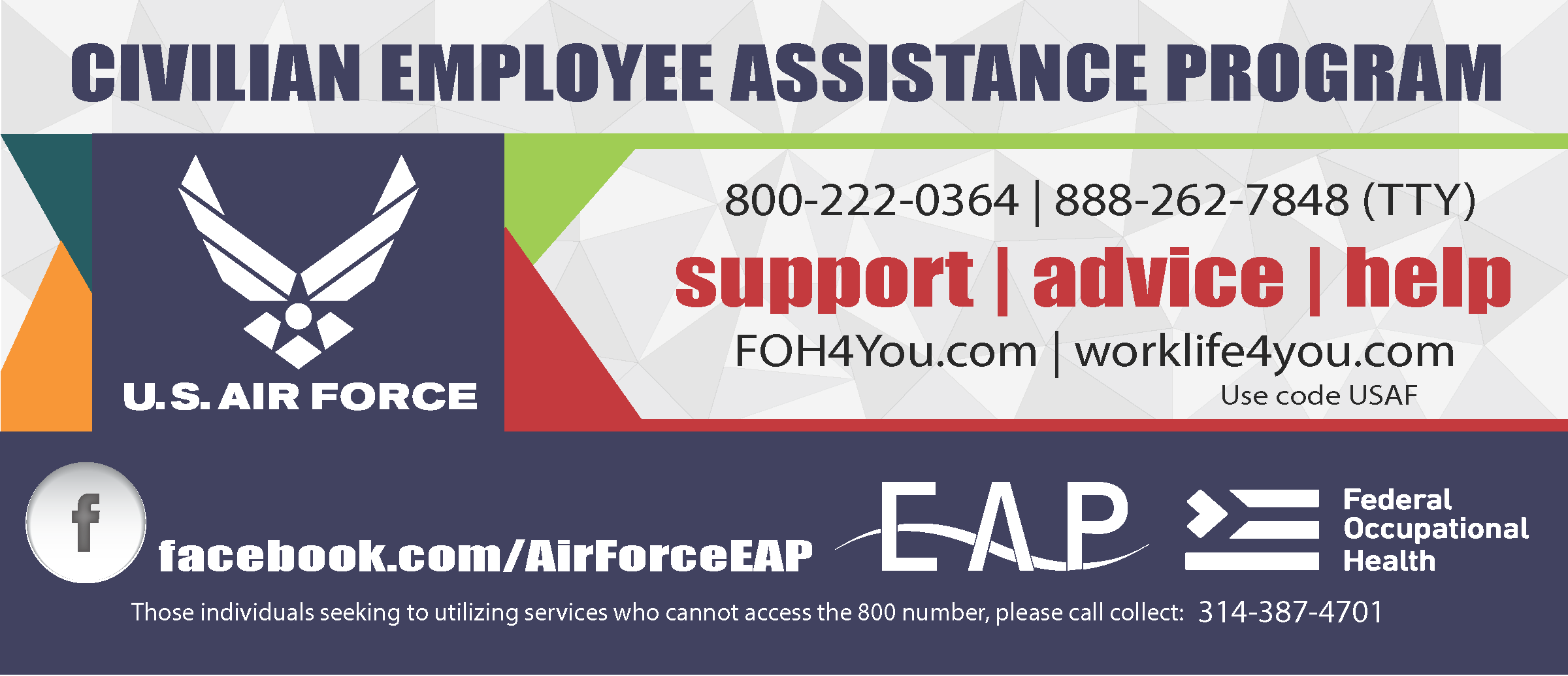 Poster with information about the civilian employee assistance program.
